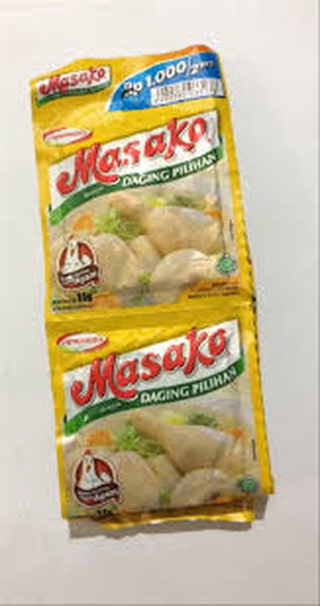 Masako, Bumbu Kaldu Penyedap dibuat dengan perpaduan sempurna antara ayam segar berkualitas, bumbu dan rempah pilihan. Sehingga secara praktis menyempurnakan kelezatan masakan Anda sehari-hari dengan rasa dan aroma dari ayam asli sama seperti kaldu buatan