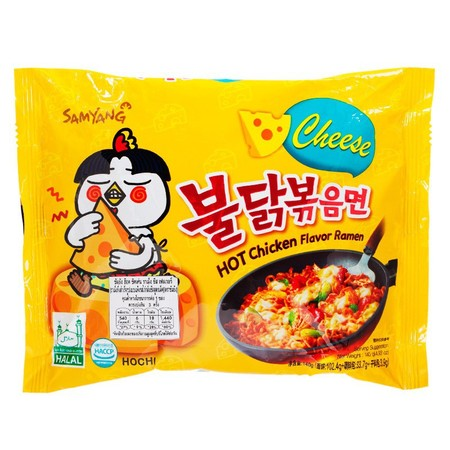 "Mie instant import dari Korea yang dijuluki ""Fire Noodle"" ini memilki ciri khas rasa super pedas, tekstur mie yang kenyal dan gurih, dipadu dengan bumbu lezat nan pedas juga dilengkapi topping rumput laut kering dan taburan wijen menambah cita rasa mie."