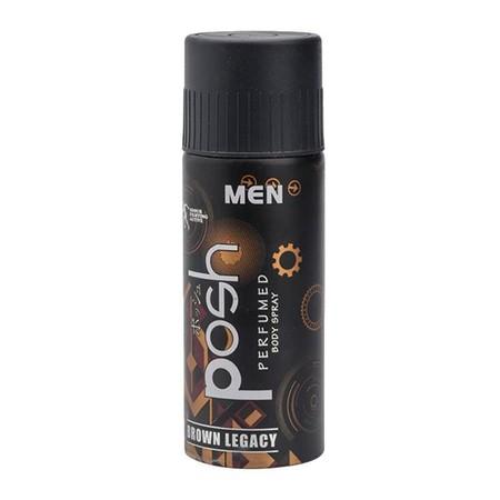 Posh Men Body Spray Brown Legacy 150Ml Merupakan Body Spray Dengan Memiliki Perlindungan Anti Bacterial Untuk Membunuh Kuman Penyebab Bau Badan