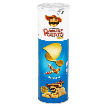 Mr. Potato Adalah Keripik Kentang Dengan Rasa Khas Barbeque  Terbuat Dari Kentang Asli Pilihan Terbaik, Menjadikan Mister Potato Crisps Bbq Ini Sebagai Santapan Ringan Yang Dapat Disajikan Kapan Saja Dan Dimana Saja Bersama Teman-Teman Ataupun Orang-Orang