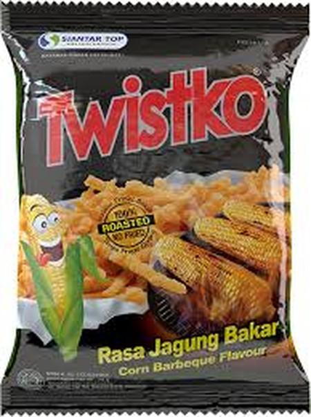 snack yang dibuat dari jagung pilihan yang diproses secara dibakar dan tanpa digoreng