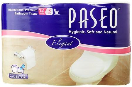 Paseo Elegant Toilet Core Non Emboss [12 Rolls/3 Ply/300'S] Merupakan Tissue Berbahan Serat Alami Yang Memiliki Daya Serap Tinggi & Kelembutan Yang Maksimal. Didesain Untuk Membersihkan Kulit Anda Tanpa Iritasi, Ideal Digunakan Saat Di Toilet, Mobil, Di K