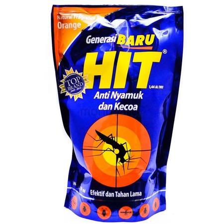 HIT Spray Liquid Pouch merupakan spray yang efektif membunuh nyamuk dan kecoa. Dengan aroma orange sehingga ideal dijadikan spray sehingga tidur Anda dan keluarga lebih optimal.