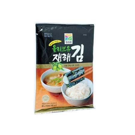 Daesang Roasted Laver Adalah Rumput Laut (Nori) Dengan Minyak Zaitun Yang Dapat Dimakan Sebagai Snack Atau Dicampur Dengan Makanan Lain.