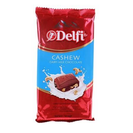 Delfi Cashew Bar 155gr. adalah cokelat yang terbuat dari bahan alami sehingga sehat dan dapat dinikmati oleh siapapun, cocok dinikmati kapan saja dan dimanapun Anda berada.
