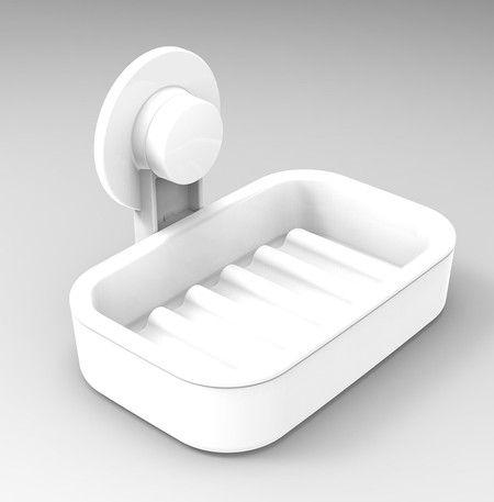 Bathroom accessories,  Soap rack with ABS + PP HQ material and elegant design. High adhesion. Size 14 * 10 * 10 CM