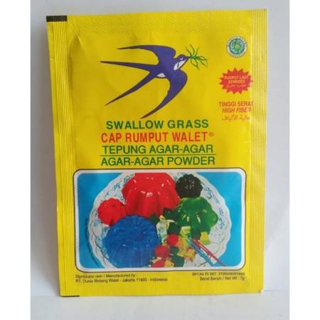 Selain hadir dengan brand Swallow Globe, perusahaan agar-agar ini juga mengeluarkan beberapa brand produk agar-agar lainnya. Termasuk salah satunya dengan nama brand Swallow Grass. Agar-agar Swalow Grass atau agar-agar cap Rumput Walet hadir dalam bentuk
