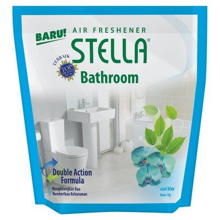 Stella Bathroom Cool Blue 70 Gram Adalah Pengharum Udara Dalam Bentuk Gel Yang Dirancang Untuk Memberikan Kesegaraan Alami Di Ruangan Kamar Mandi. Dengan Keharuman Yang Lembut Dan Tahan Lama Dari Paduan Kesegaran Eksotis Untuk Memberikan Sensasi Semangat.
