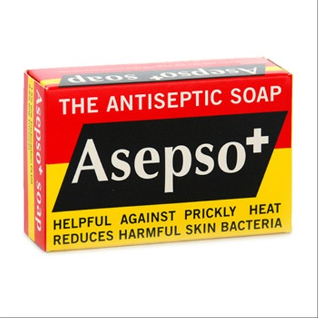 Asepso Antipseptic Originalnal Soap Bar 80Gr. Membersihkan Tubuh Dengan Lebih Efektif . Membunuh Kuman Dan Menyingkirkan Bakteri.