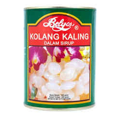 Kolang Kaling (Palm seeds) is the seeds of the aren trees. It is a chewy white oval-shaped transparent seeds with a refreshing taste. Kolang Kaling has a very high water, protein and carbohydrat content. It is said that eating kolang kaling will give an e