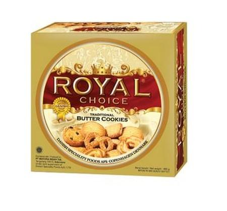 Royal Choice Butter Cookies 480 Gr. Royal Choice Kaleng merupakan butter cookies dengan rasa mentega yang gurih dengan taburan gula. Butter cookies ini terbuat dari bahan-bahan pilihan dan diproses secara higienis sehingga aman untuk dikonsumsi. Ideal unt