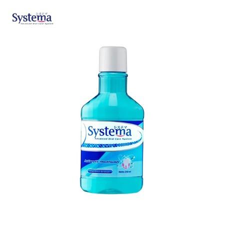 Systema Mouthwash dengan Kandungan aktif Flouride dan IMPMP mampu melindungi gigi dengan cara membunuh bakteri, mencegah timbunan plak pada gigi dan mencegah bau mulu tanpa menimbulkan ketidknyamanan pada saat berkumur. GK melindungi gigi dan gusi dari pe