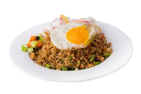 nasi goreng dengan bumbu xo dan ikan teri