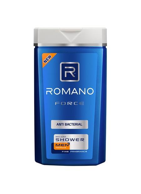 Diformulasikan Khusus Untuk Pria, Romano Force Antibacterial Shower Menjaga Kulit Sehatmu Bersih Dan Lembut Dengan Parfum Maskulin Khas Romano Force. Formula Sodium Pca Dan Anti Bakterinya Membersihkan Secara Optimal Dan Melindungi Kulit Dari Kuman. Wangi