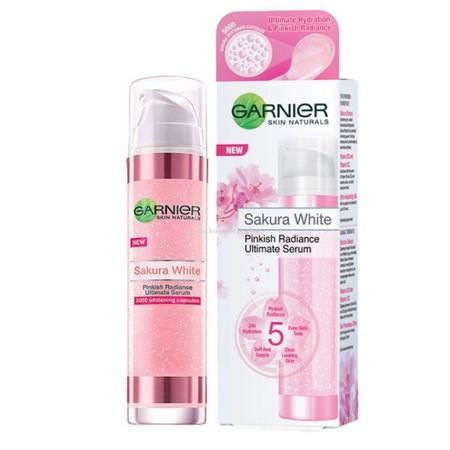 Garnier Sakura White Pinkish Radiance Essence Mampu Merehidrasi & Melembutkan Kulit Anda Setelah Dibersihkan, Sehingga Dapat Mengoptimalkan Produk Perawatan Kulit