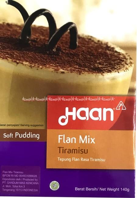 Membuat tiramisu lebih mudah dengan Haan Flan Tiramisu Flan Mix? Siap pakai, sangat mudah dan praktis digunakan, tanpa melalui proses pemanggangan.