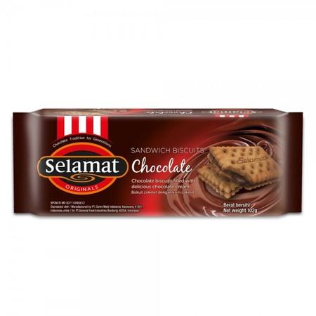 biskuit sandwich dengan banyak coklat di dalamnya yang akan menghadirkan begitu banyak kelezatan. cocok dinikmati bersama teh, susu dan kopi.