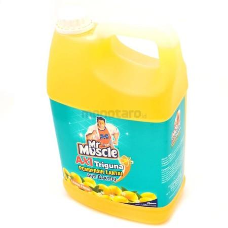 Mr. Muscle Axi Galn Triguna Lemon Fresh Pembersih Lantai [4 L] Merupakan Pembersih Lantai Yang Akan Membuat Lantai Rumah Anda Terlihat Lebih Bersih Dan Anak Anda Aman Saat Bermain Dilantai. Oleh Karenanya, Cairan Pembersih Lantai Ini 99% Ampuh Membunuh Ku