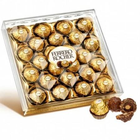 Ferrero Rocher adalah merek permen cokelat yang dibuat oleh perusahaan manisan Ferrero SpA, yang juga membuat Tic Tac dan Nutella. Cokelat ini dibuat dari wafer yang diberi kacang hazelnut dan diisi dengan krim hazelnut dan di luarnya dilapisi oleh cokela