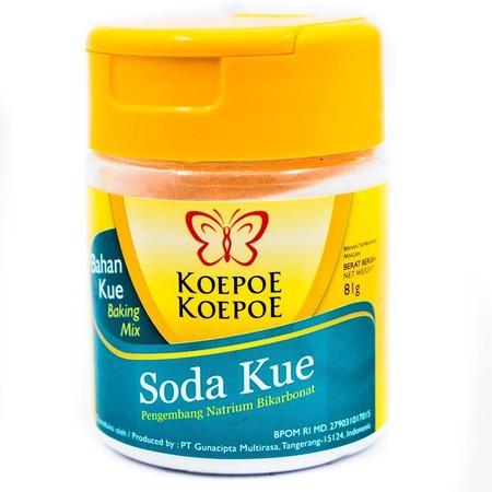 Soda Kue Adalah Varian Pengembang Lain Yang Dimiliki Koepoe Koepoe. Berbeda Dengan Baking Powder, Soda Kue Lebih Cocok Untuk Kue-Kue Yang Berbahan Dasar Asam Seperti, Coklat, Jus, Dan Yogurt. Buat Flavor Lovers Pecinta Martabak, Soda Kue Jadi Bahan Wajib