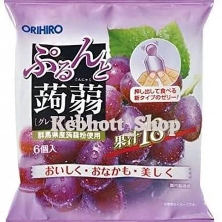 ORIHIRO Jelly rasa Anggur 120gr muscat konnyaku jelly