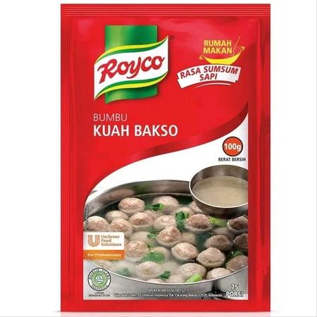Royco Bumbu Kuah Bakso merupakan bumbu penyedap rasa yang terbuat dari bahan pilihan & rempah-rempah alami untuk menghasilkan masakan dengan citarasa gurih & rasa yang mantap dengan cepat. Mudah terserap sehingga cocok untuk beragam hidangan berkuah, anek