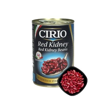 Cirio Red Kidney Beans Adalah Kacang Merah Dalam Larutan Garam Yang Terbuat Dari Kacang Pilihan Yang Diproses Dengan Air Panas Dan Tanpa Bahan Pengawet. Kacang Ini Bercitarasa Manis Dan Renyah, Sangat Cocok Untuk Masakan Yang Direbus Atau Sup Karena Kacan