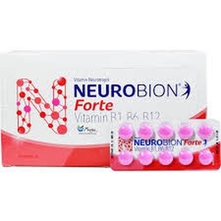 Pencegahan & terapi defisiensi vit.B1, B6 & B12 seperti pada Beri-beri, Neuritis Perifer dan Neuralgia. Deskripsi NEUROBION TABLET merupakan vitamin B dengan kombinasi Vitamin B1, B6, dan B12. Vitamin ini dapat digunakan untuk mencegah defisiensi vitain B