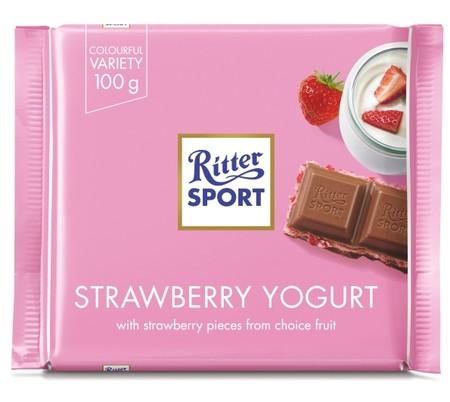 Ritter Sport Strawberry Yogurt Cokelat merupakan cokelat dengan rasa yang nikmat dan gurih, sehingga membuat siapapun menyukainya. Cocok dikonsumsi ketika sedang berkumpul bersama sahabat, kerabat, dan keluarga.