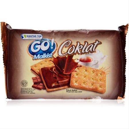Go Malkist Coklat 130gr merupakan cemilan berbentuk biskuit crackers renyah dengan lapisan cokelat yang nikmat di dalamnya. Cocok untuk menemani bersantai di sore hari dengan segelas teh atau kopi