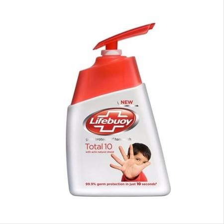 Sabun Cuci Tangan Total 10 -Sabun cuti tangan anti bakteri yang mengandung ActivSilver Formula untuk perlindungan terhadap 10 kuman penyebab masalah kesehatan yang berevolusi semakin kuat. Memberikan perlindungan secara total dan menyeluruh pada kulit.