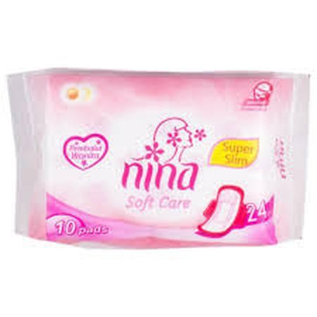 BAGUS Nina soft care dan dry fit adalah pembalut wanita yang memiliki lapisan serap ekstra dengan permukaan yang lembut sehingga tetap kering dan terasa nyaman saat digunakan. Keunggulan   Bahan lembut  Kemampuan penyerapan maksimum  Memberikan kebebasan