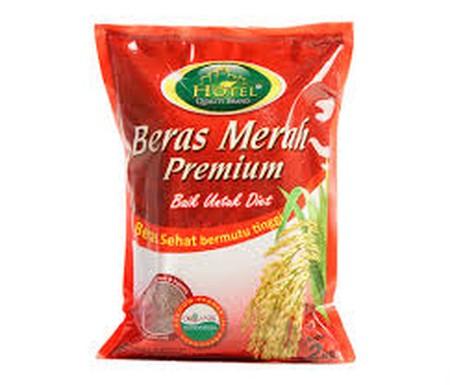 Beras Merah Premium. Diolah Dari Pilihan Yang Diolah Secara Modern Dan Higienis. Baik Untuk Diet.