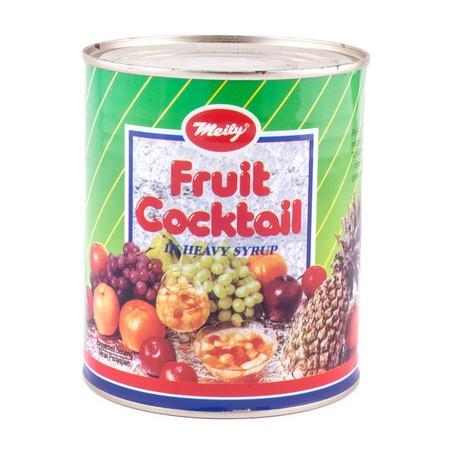 Meily Fruit Cocktail Kaleng 565gr merupakan campuran buah-buah dalam kaleng yang segar dan sehat bagi tubuh. Praktis untuk disajikan, sangat cocok untuk dijadikan hidangan penutup ketika sedang acara maupun untuk cemilan sehari-hari