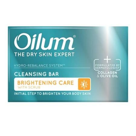 Oilum Brightening Cleansing Bar sabun batang yang dapat membantu Mencerahkan & mengembalikan keseimbangan hidrasi alami (kelembaban) kulit agar lembut, elastis & cerah Rangkaian produk perawatan kulit kering berlebih dan kulit mulai berkerut, yang diformu