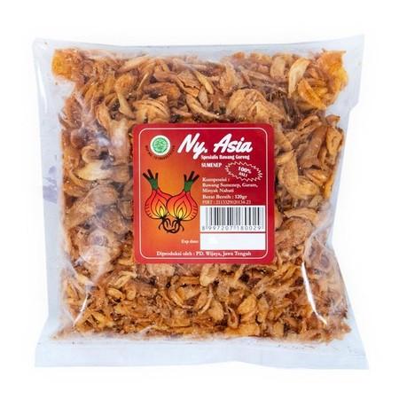 Bawang Merah Goreng Ny Asia , Bawang goreng asli 100% tidak ada bahan campuran.