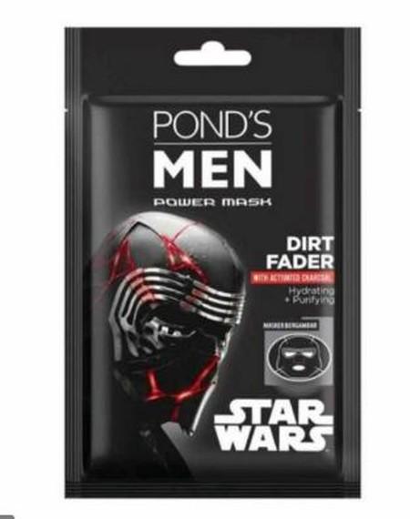 Pond's Men Dirt Fader Masker Wajah [20 g] Masker yang di desain khusus dengan tema Star Wars! Mengandung activated charcoal yang menetralisir efek debu dan polusi. Diformulasikan agar dapat menutrisi dan menghidrasi kulit wajah dengan efek menyegarkan.