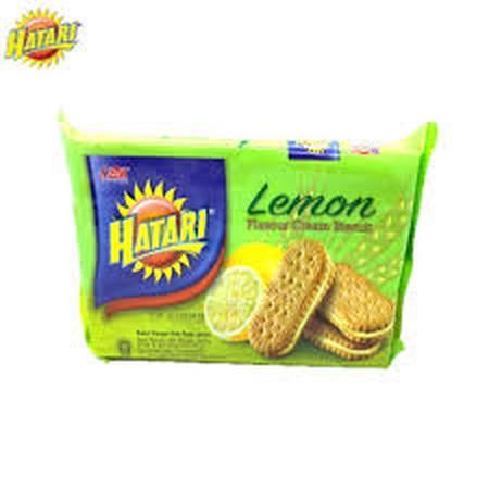 Biskuit Dengan Krim Rasa Lemon