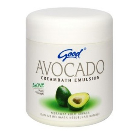Good Avocado Creambath Emulsion 3 In 1 Plus Vitamin Paduan Sempurna 3 Unsur Dalam 1 Sistem Pemeliharaan Dan Perawatan Kulit Kepala Dan Rambut Yang Terdiri Dari Avocado Oil Yang Mengandung Banyak Vitamin B, Vitamin E, Dan Lemak Omega - 3 Yang Berfungsi Seb