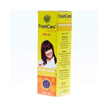 FreshCare, minyak angin aromatherapy, merupakan minyak angin modern yang mengandung aromatherapy yang menyegarkan. FreshCare dikemas dalam bentuk botol roll on yang praktis dan tidak mudah tumpah. FreshCare berkhasiat untuk meringankan Pusing-pusing - sak
