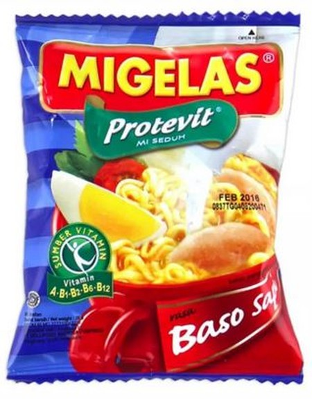 Mi Gelas baso sapi made of natural ingredients and free of artificial MSG, food coloring and preservatives and containing Protevit.