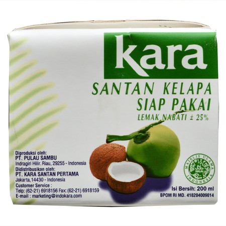 Kara Brings You The Natural Flavour And Quality You Need In Your Coconut Cream. A Naturally Cholesterol-Free Food. No Preservatives. No Flavourings. No Colourings. Gluten-Free Ingredients: Fresh Natural Coconut Extract, Stabiliser