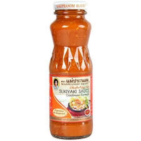 Mae Pranom Sukiyaki Sauce Cantonese 750ml adalah saus yang cocok sebagai pendamping saat mengonsumsi sukiyaki. Terbuat dari bahan-bahan alami sehingga menciptakan rasa yang nikmat