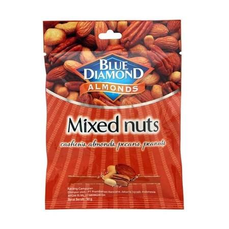 Blue Diamond Mixed Nut 40Gr Blue Diamond Mixed Nut 40GrMerupakan Kacang Campur Yang Terdiri Dari Campuran Kacang-Kacangan, Diantaranya Kacang Koro, Kacang Polong, Stik Pedas Jaipong Dan Lain Sebagainya Dengan Bahan-Bahan Yang Berkualitas Sehingga Mengh