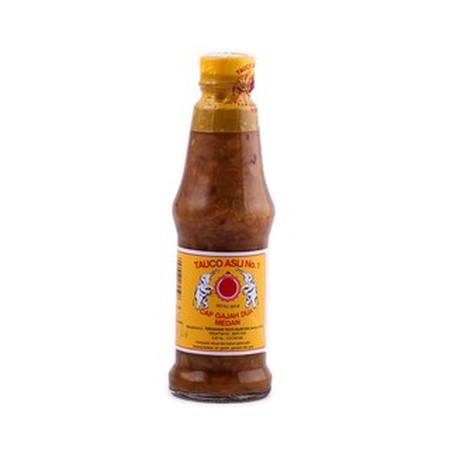 Tauco Cap Gajah 320gr. Tauco terbuat dari pasta kedelai yang berfungsi sebagai penyedap masakan alami. Umumnya, bumbu masakan ini digunakan dalam berbagai olahan masakan Jawa dan Sunda. Meski ada juga versi tauco lain yang berasal dari Kalimantan dan Suma