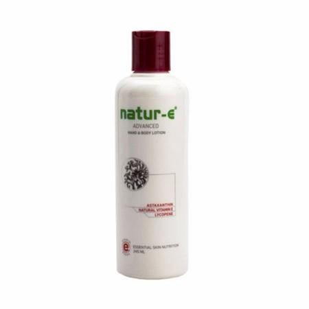 Natur E Advanced Lotion Mengandung bahan aktif Astaxanthin dari ganggang merah, antioksidan terkuat di dunia yang kekuatannya 40x lebih efektif mengencangkan kulit.Diperkaya dengan Vitamin E alami dalam butiran e-beads yang melembapkan kulit lebih lama se