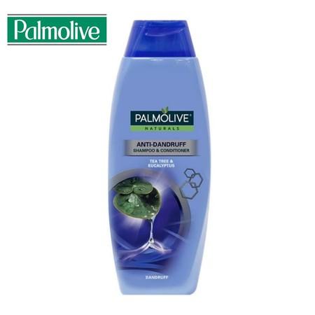 Palmolive Naturals Shampoo Anti-Dandruff menggunakan bahan 100% alami, di mana mengandung ekstrak Tea Tree dan Eucalyptus untuk membersihkan kulit kepala dan menyegarkan rambut secara lembut dan efektif.