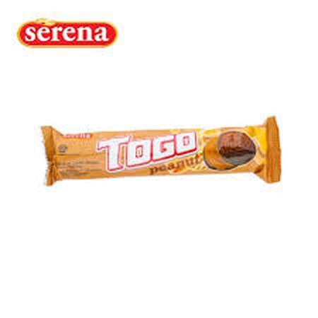 2 biskuit coklat dengan krim kacang di tengahnya. Dikemas secara praktis untuk dinikmati siapa saja, mulai dari anak-anak hingga orang dewasa.