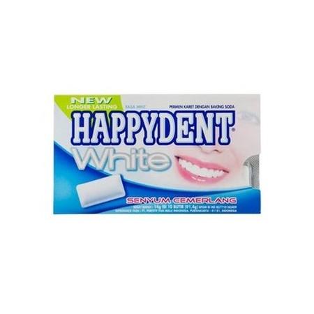 Happydent White Bottle merupakan permen karet dengan kandungan bahan istimewa yang mampu membuat gigi putih cemerlang sekaligus memberikan sensasi dingin dan menyegarkan di mulut. Mengandung Baking Soda yang dapat membantu menjaga gigi tetap putih, serta