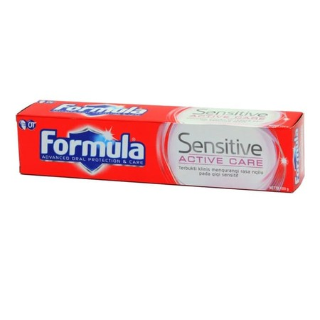 Formula Pasta Gigi Merupakan Spasta Gigi Yang Mampu Melindungi Gigi Dan Efektif Memberishkan Gigi Dari Kuman.